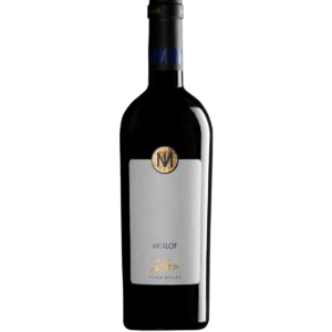 Vino Milas Merlot Bariqque White Background